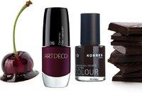 Trendy podzimu: Laky na nehty v barvě višní v čokoládě
