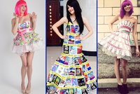 Návrhářka šije z odpadků šaty, které se dají skutečně nosit