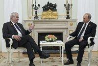 Putin přijal v Moskvě Zemana: Prezidenta doprovodili Mynář a »Pan Lukoil« Nejedlý