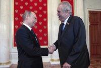 Ruská média tleskají, Zeman se dnes sejde s Putinem. Proberou sankce za Krym i byznys