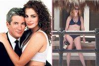 Tahle že sváděla Richarda Gera? Julia Roberts šokovala svou postavou v plavkách!