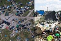 Uprchlické městečko v Calais: Stany, chýše, odpadky, mešity, obchůdky a zase odpadky