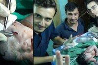 Miminko se narodilo se šrapnelem v hlavě! Syrští lékaři ho zachránili