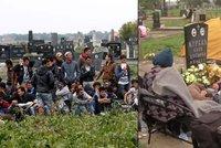 Uprchlíci si ustlali na hrobech. Na křesťanském hřbitově vznikl provizorní tábor