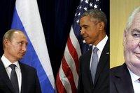 Putin se hádal s Obamou kvůli Asadovi: Ke komu se přiklonil Zeman?