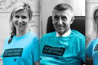 Politici pro gay a lesbické rodiny. Tyrkysové triko oblékli i Babiš s Krnáčovou