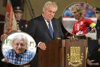 Zpěvák, fotbalista, politik: Kdo letos dostane od prezidenta metál?
