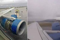 Horor na palubě: Letadlu se za letu začal rozpadat motor