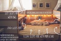 Sedmičlenná rodina spí v jedné posteli, otec ji vyrobil sám