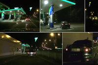 Hra na honěnou s policisty kolem benzínky: Opilý řidič neutekl ani pěšky