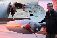 Podívejte se: Srážka českého bitevníku se supem, pilot nestihne ani zareagovat