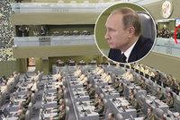 Putinovo třípatrové doupě: Odtud bombarduje Sýrii