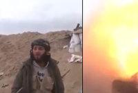 Šokující video: Islamistu rozmetala střela při natáčení
