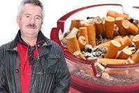 Stavař Gustav Hulínský (62) z Prahy lituje, že hulil: 80 cigaret denně? Žádný problém a teď má plíce v ohni!