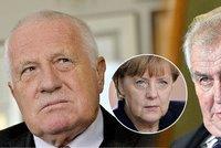 Zeman s Klausem podpořili petici proti Merkelové. Co si myslíte vy?