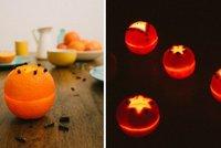 Krok za krokem: Vyrobte si nádherný svícen z pomeranče