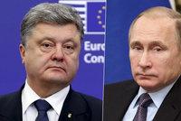 Ukrajinský prezident: Rusko se nám mstí, že jsme se rozhodli pro Evropu