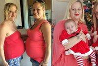 Sestřenice, či dvojčata? Sestry porodily jen 13 minut po sobě