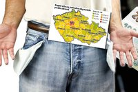 MAPA českého bohatství: Žijete v kraji chudáků, nebo pracháčů? Podívejte se!