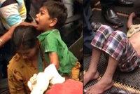 Šokující video: Sedmiletému chlapci se zasekla ruka v eskalátoru, záchrana trvala dvě hodiny