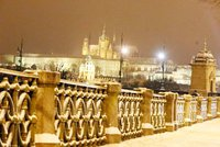 Nejstudenější týden od Nového roku. Praha se otuží sněhem, a až desetistupňovými mrazy