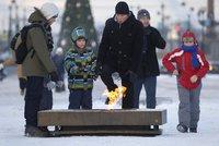 Dvacet pod nulou a ještě přituhuje. Petrohrad doporučil lidem nevycházet z domu