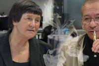 """""""Kuřácký robertek? To není ono."""" Kubera bránil cigarety v duelu s lékařkou"""