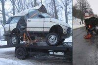 Při nehodě se Range Rover proměnil v haldu šrotu: U Holešova se napíchl na svodidla