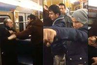 Přistěhovalci obtěžovali v metru ženu. Když se jí starý pán zastal, zaútočili