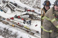 Následky kruté zimy na severovýchodě USA: Apokalypsa na dálnici