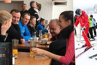 Prezidenti na lyžích: Do Tater vytáhli sjezdovky i své pohledné dcery
