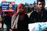 Uprchlíci v táboře bědují: Žijeme ve stanu s dítětem starým 12 dní