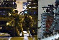 Přestřelka s teroristy v Bruselu: Útočník s kalašnikovem mrtev, razie pokračují