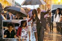 Obamu na Kubě čeká Castro. Nejdřív vzal ale rodinu i tchyni do Staré Havany