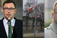 """Ovčáček kvůli uřízlé čínské vlajce zuří: """"Starosta z TOP 09 se úchylně raduje"""""""