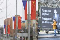 Čínské vlajky opět vlají. Prezidenta uvítají ale i dalajláma s Havlem