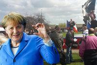 Fiasko českého vzdoru proti Merkelové: Víc policistů než demonstrantů