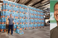 Šéf Facebooku terčem aprílového žertíku: Podřízení Zuckerbergovi udělali z kanceláře akvárium!