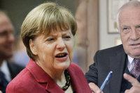 """Klaus v ráži: Sociální demokracie je vyčpělá a idey Merkelové """"ďábelské"""""""