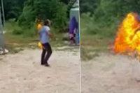 Zoufalý íránský uprchlík se podpálil na Nauru, utrpěl popáleniny na 80 % těla