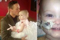 Roční holčička prohrála boj s rakovinou. Její táta si ji před smrtí na oko vzal