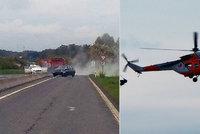 Muž byl na cestě z nemocnice: Po nehodě ho tam musel znovu převézt vrtulník