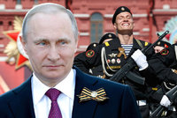 """""""Sovětský lid osvobodil národy,"""" dmul se Putin. Rusko slavilo konec 2. světové"""