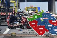 Statistiku smrti na silnicích vede Plzeňsko. V Praze se spíš odírají plechy