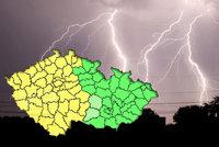 """Česko """"rozpůlí"""" bouřky: Za pár hodin se přiženou i s kroupami"""