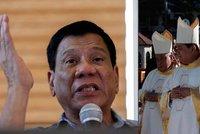 """Filipínský prezident se """"předvedl"""": """"Vy zku*vysyni!"""" nadával biskupům"""