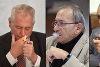 Zemanovi cukají koutky. Schwarzenberga i Kuberu těší krach antikuřáckého zákona