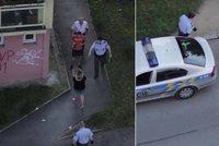 Nevídaná podívaná v Plzni: Namol opilá žena skákala po autech