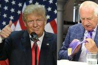 """Klaus má kravatu od Donalda Trumpa. """"Být Američanem, volím ho,"""" přiznal"""