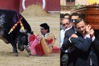 Za smrt toreadora se chystá krvavá pomsta: Chtějí zmasakrovat matku vraždícího býka!